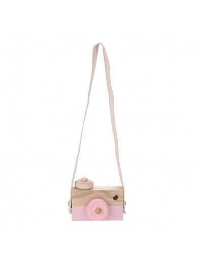 Camera Wood Pink
