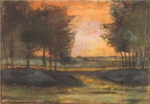 The Landscape in Drenthe - Vincent van Gogh