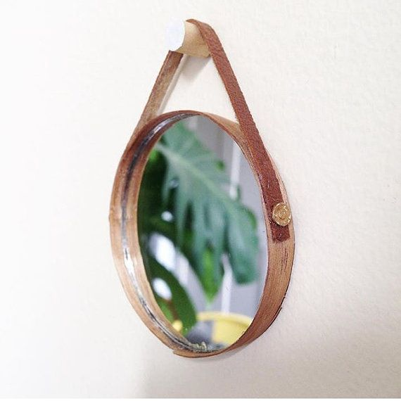 Hey, I found this really awesome Etsy listing at https://www.etsy.com/au/listing/270427240/dollshouse-miniature-mirror-with-leather