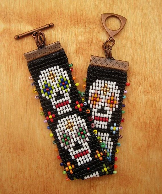 Day of The Dead Loom Beaded Br