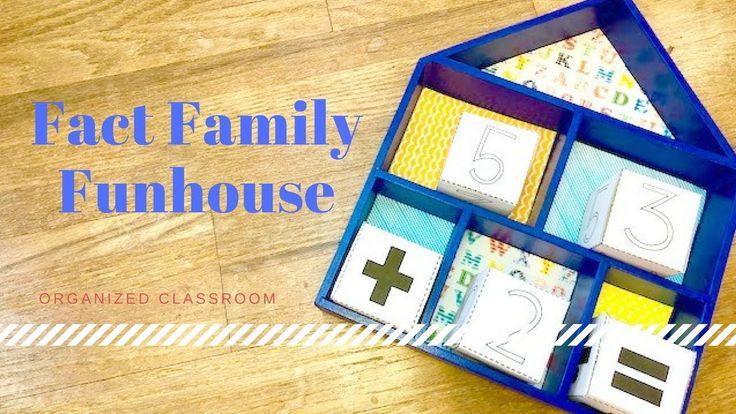 Fact Family Classroom Craft!   #factfamily #mathgames