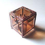 Свадебный салон ручной работы. Ярмарка Мастеров - ручная работа Дымчатый топаз. Стеклянная шкатулка для обручальных колец. Handmade.