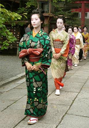 Kushi-Matsuri (Kushi-festival)in Kyoto Japan.  Edo-era style lady.