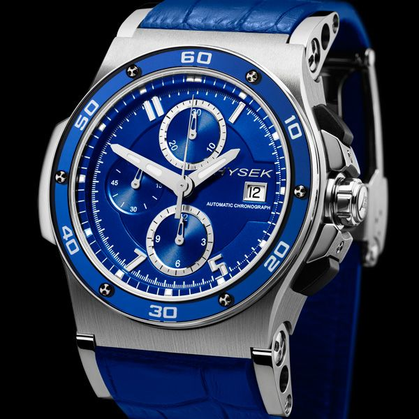 HYSEK ABYSS 44MM Chronograph A new version of the famous Abyss Discoverer and highlights its unique artistic creativity as well as its investment in technical innovation (See more at En/Fr: http://watchmobile7.com/articles/hysek-abyss-44mm-chronograph) #watches #montres #hysek @Sabine Hysek Manufacture