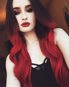 Black to red hair color,Incredible nice bright red ombre hair color for black hair girls