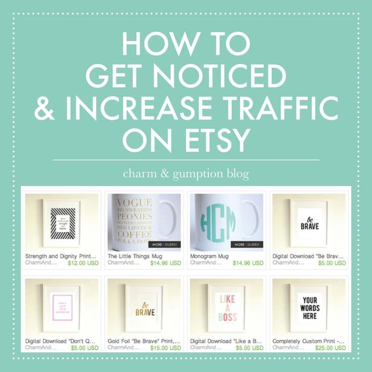4 TIPS TO GET NOTICED AND INCREASE TRAFFIC ON ETSY | Charm & Gumption