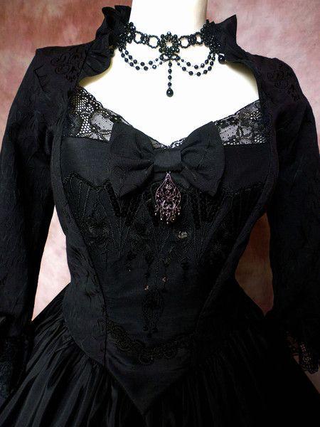 Rokoko Gothic WGT Kleid längenverstellbar von Historische Kostüme auf DaWanda.com