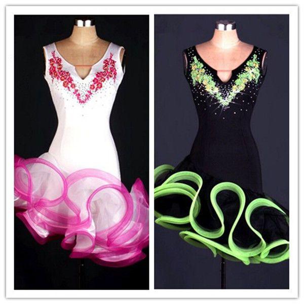 Latin salsa tango Cha cha Tango Rumba Ballroom Competition Dance Evening Dress #Unbranded