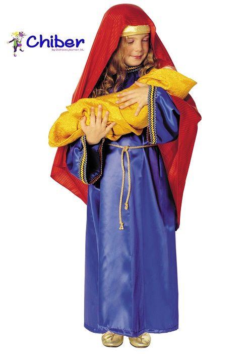 """Disfraz Virgen María Niña: El Ave María es una de la oraciones más celebres que está consagrada a la Virgen María. La primera parte surge del Evangelio y reproduce el saludo del Angel Gabriel """"Dios te salve María, llena eres de gracia, el Señor es contigo"""" y el de Isabel, madre de San Juan Bautista: """"Bendita Tú eres entre todas las mujeres, y bendito es el fruto de tu vientre"""". La segunda parte de la oración, un ruego, empezó a usarse mucho más tarde, en el siglo XIV: """"Santa María, Madre de…"""
