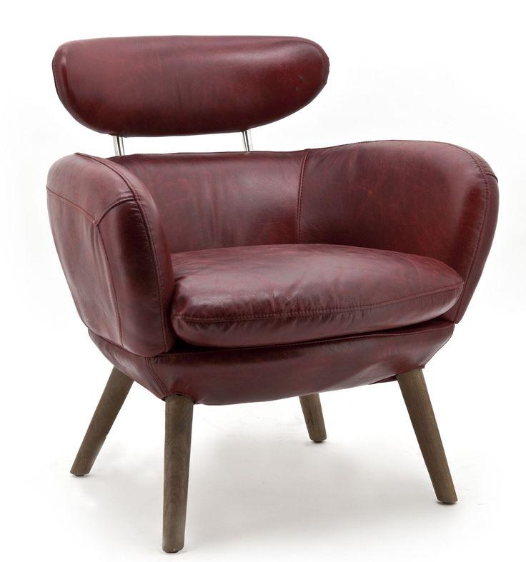 Zelena fauteuil rood - Eleonora