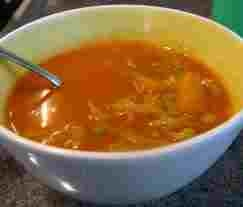 Vegetable soup..orange meaning healthy,thoughtful and sincere, creative, strong..
