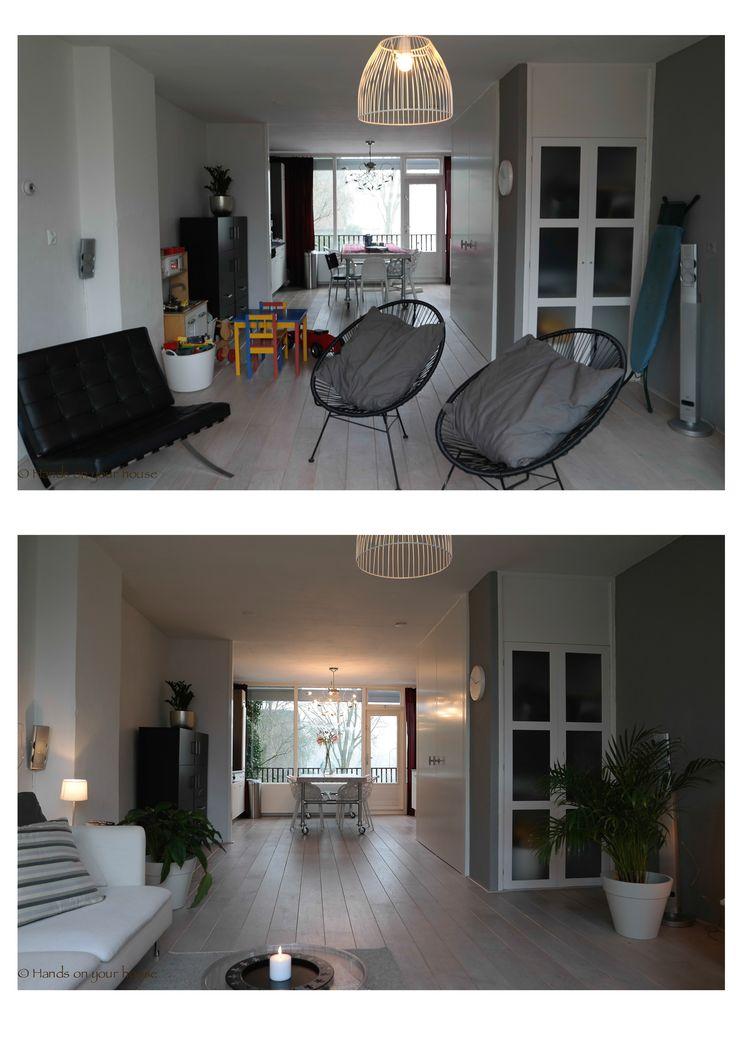 Voor en na verkoopstyling woonkamer Gorcum