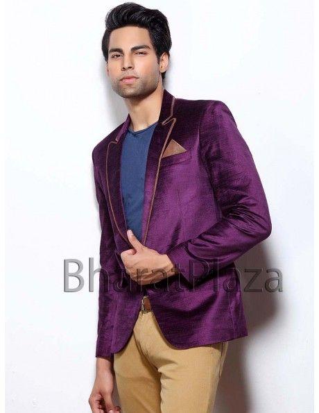 Dazzling Purple Blazer Item code : TSBL1104  http://www.bharatplaza.com/mens-wear/mens-designer-suits/mens-blazer/dazzling-purple-blazer-tsbl1104.html
