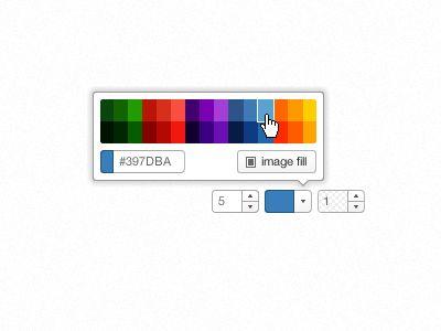 curated color picker on dribble Sergio Alvarez