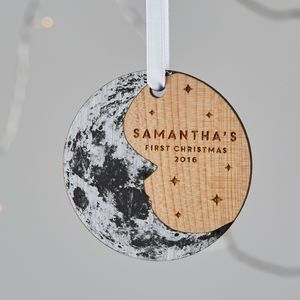 Baby's First Christmas Moon Tree Ornament