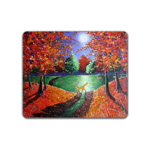 Autumn Fox Mousemat by angielivingstone at zippi.co.uk