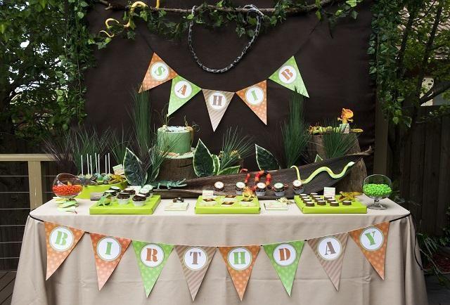 Boys Reptile Themed Birthday Party Ideas