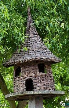Woven willow dovecote - Brampton Willows