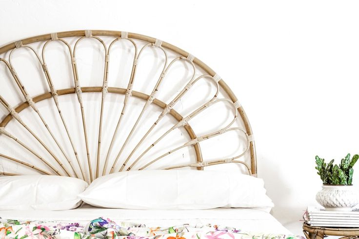 Las 25 mejores ideas sobre cabecero de mimbre en pinterest - Cabecero de bambu ...
