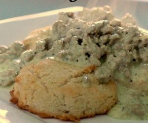 Gluten Free Biscuits and Gravy Recipe | Paleo inspired, real food