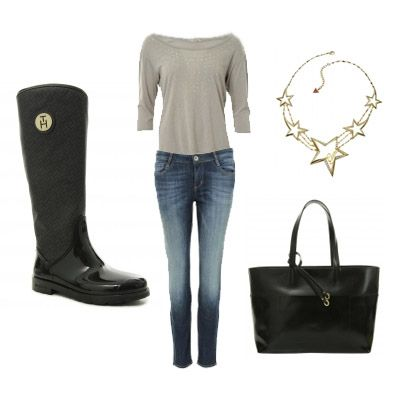 Fall set with Tommy Hilfiger Boots, and star necklace.
