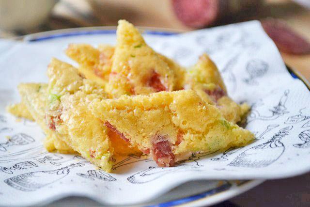 Jauntaler Salami-Lauch-Schöberl schmecken einfach köstlich. Das Rezept ist in wenigen Schritt zubereitet.