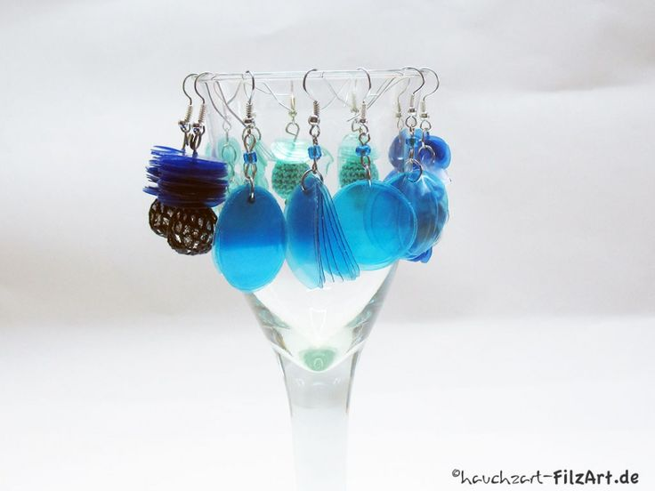 ohrringe aus pet flaschen earrings made from plastic bottles upcycling pet pinterest. Black Bedroom Furniture Sets. Home Design Ideas