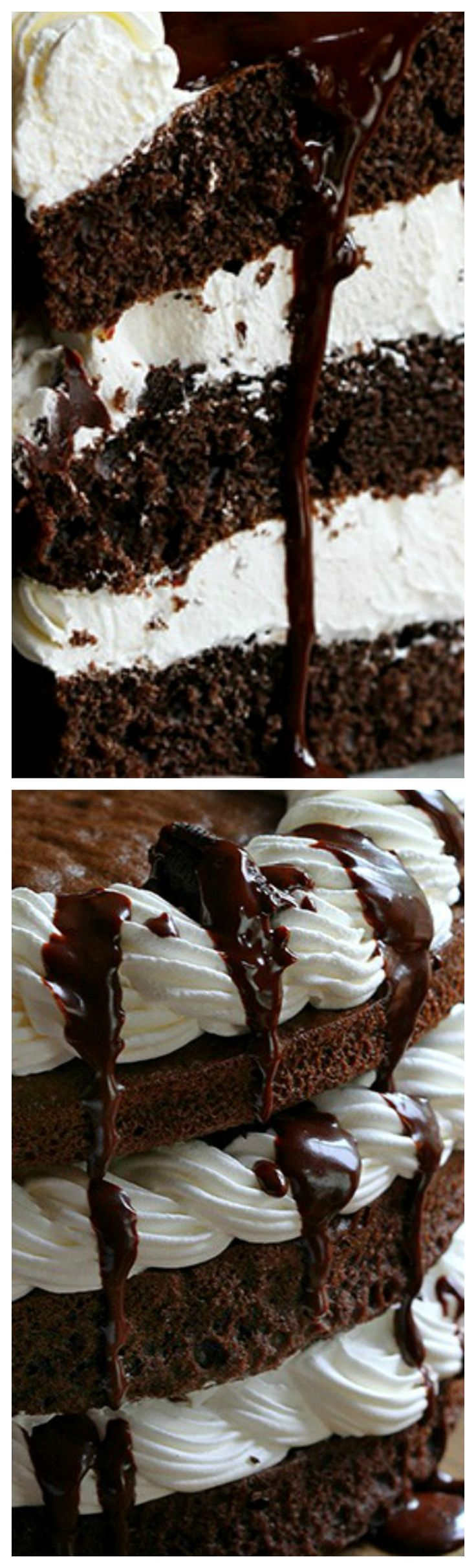 Mississippi Mudslide Cake ~ The Chocolate Cake with Chocolate Ganache, Kahlua Whipped Cream and Oreo is the definition of indulgent baking!