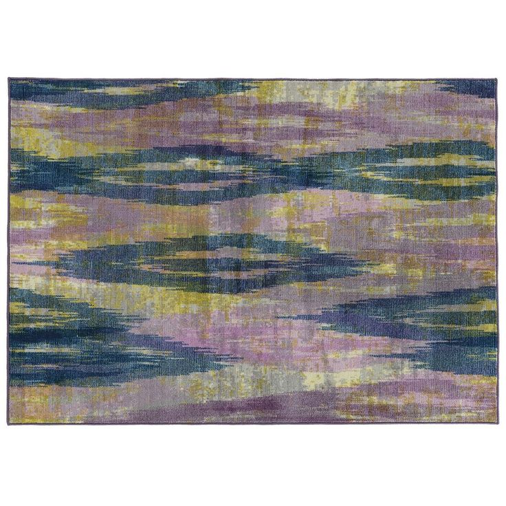 PANTONE UNIVERSE Prismatic Abstract Rug, Purple