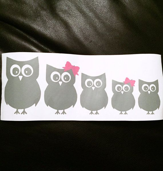 Unique Family Car Decals Ideas On Pinterest Family Car - Owl custom vinyl decals for car
