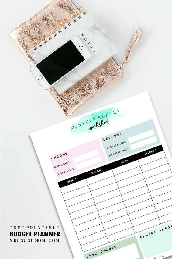 wedding planning checklist spreadsheet free%0A   Free Printable Household Budget Templates