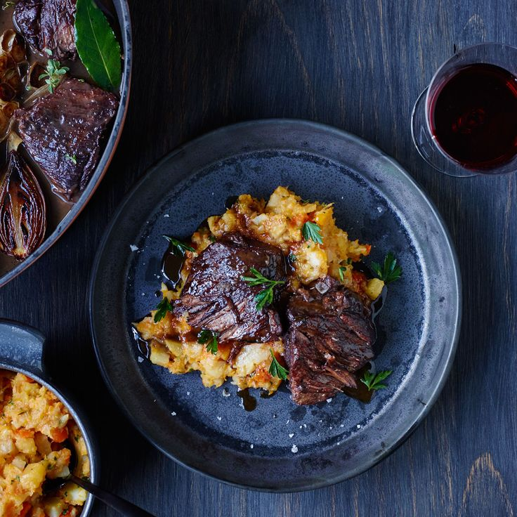 This best-ever Braised Short Ribs with Root Vegetable Mash recipe gets flavor from red wine, fresh herbs, butternut squash and more. Get the recipe from Food & Wine.