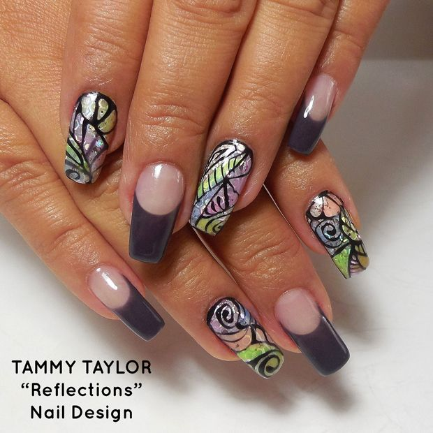 """♥ Tammy Taylor """"Reflections"""" Nail Design Step by Step"""