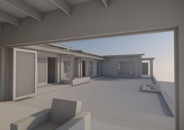 Living room view of garden terrace