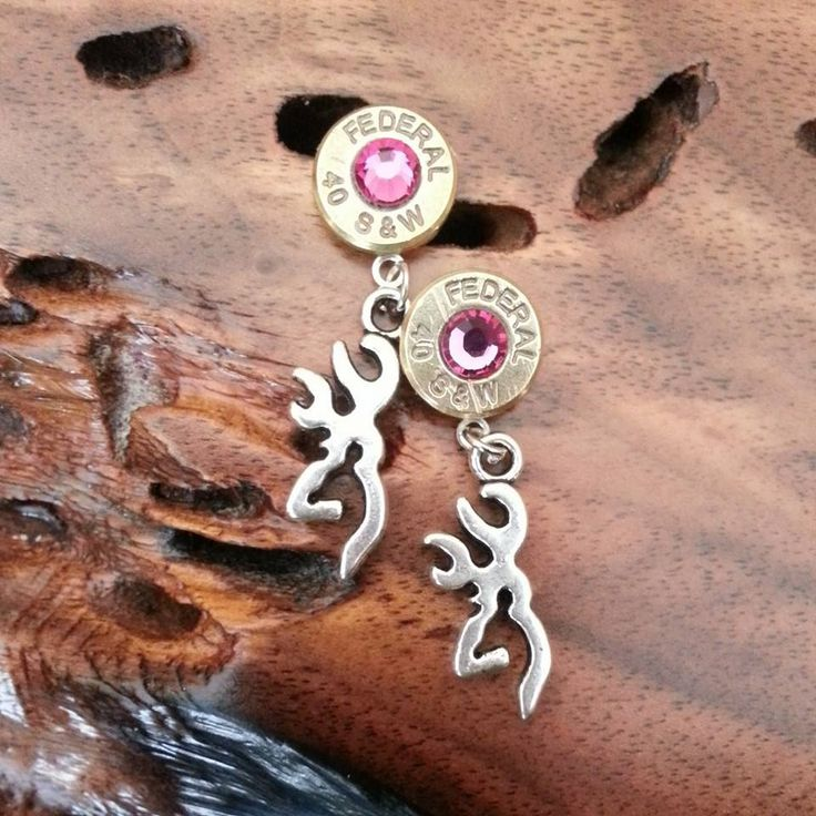 Bullet with Browning Dangle Earrings for the Hunting Country Girl https://www.etsy.com/shop/GunPowderWoman