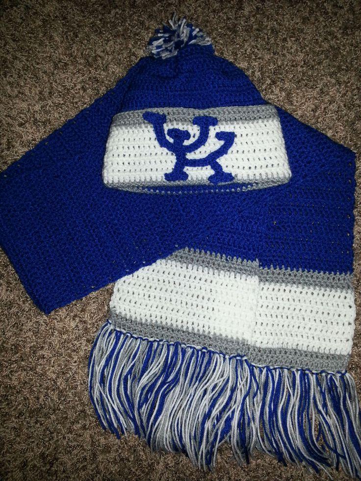 University Of Kentucky Crochet Hat And Scarf Set My