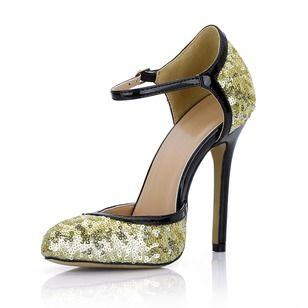 Zapatos Salón Cerrados Tacón stilettos Brillo Chispeante (1625118680)