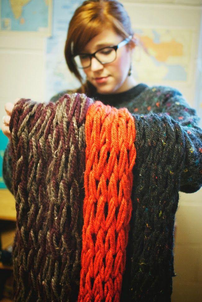 Arm Knitting: The Easiest DIY!