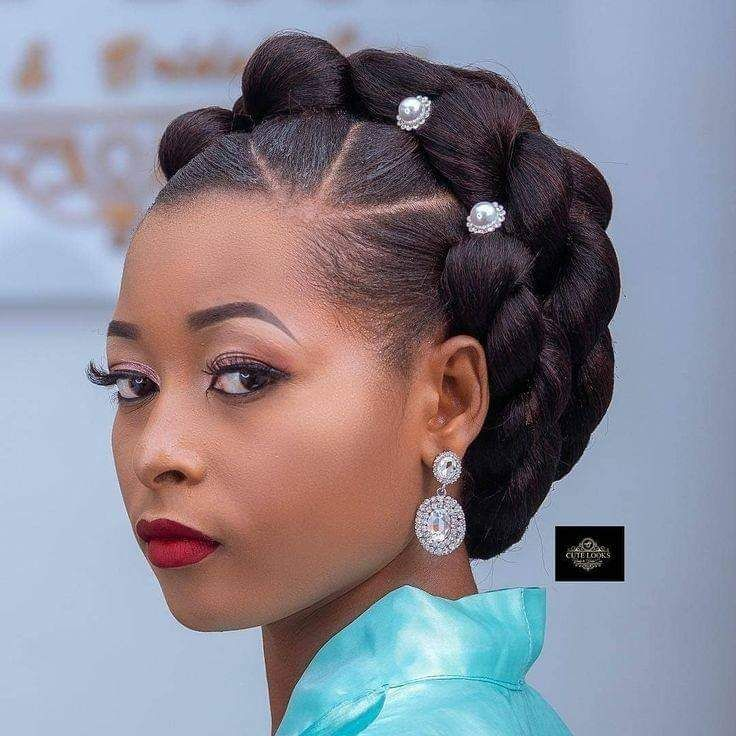 Natural Hair Updo, Natural Hair Jewelry