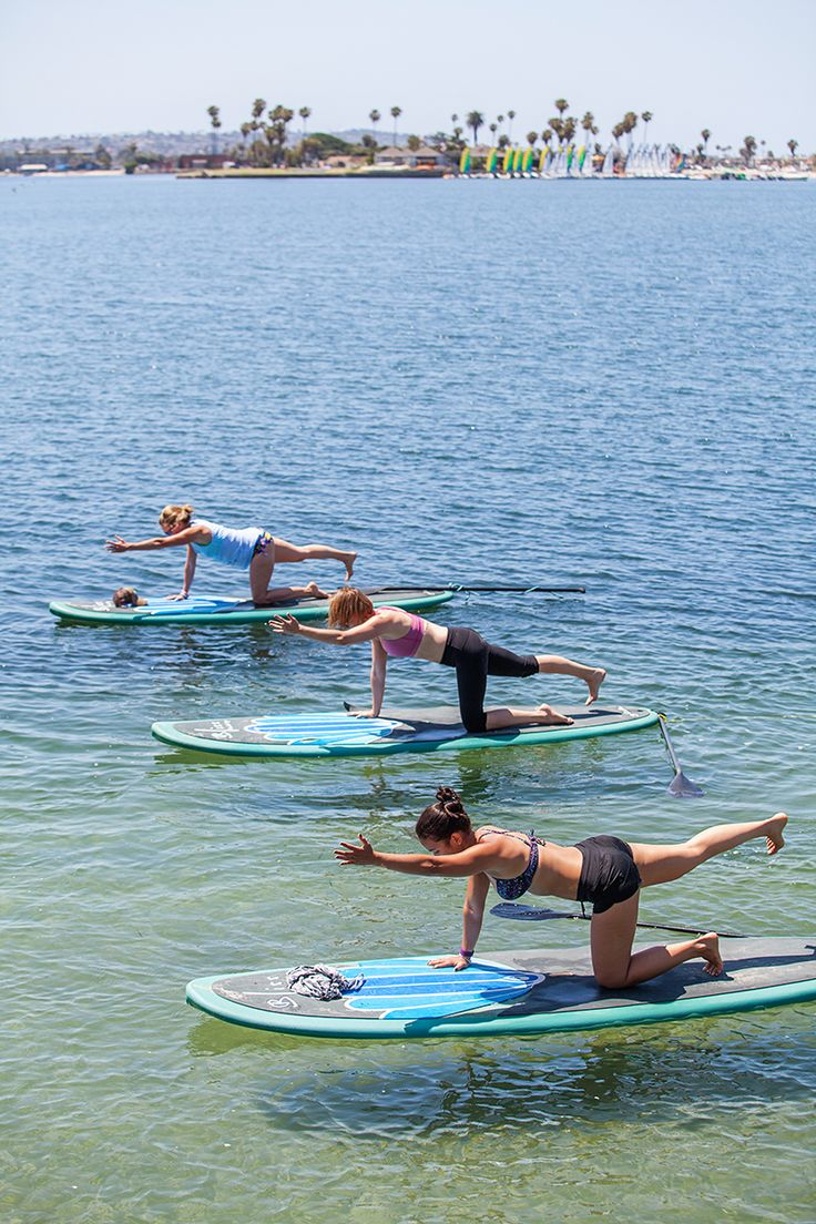 Can't wait to try this/ have paddle boarded but not paddleboard yoga /San Diego SUP yoga at Bliss Paddle Yoga. #theeverygirl