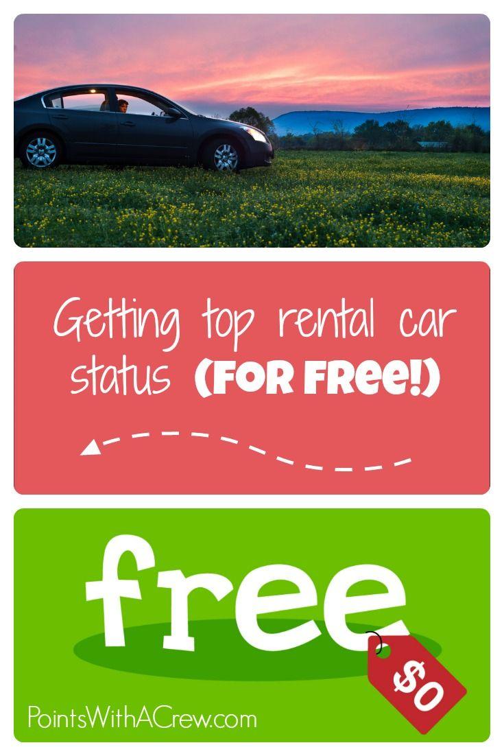 Getting Top Rental Car Status For Free Car Rental Car Rental