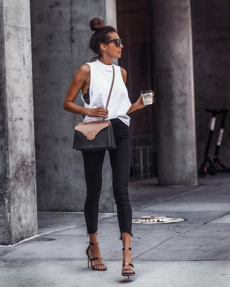 OTD coffee in hand ⚡️coming at Monday with sporty-femme vibes. || sandals by…
