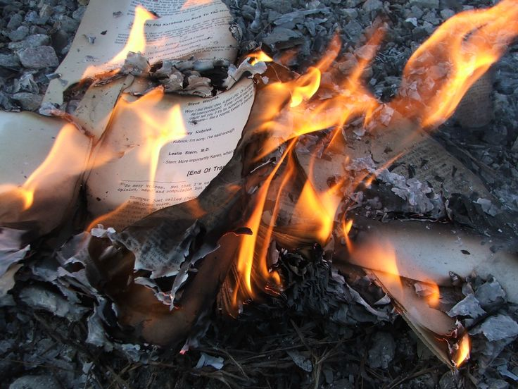 She could not stop the flames coming from her, and could not stop her heart from breaking as they turned the books she loved most in the world into ashes...