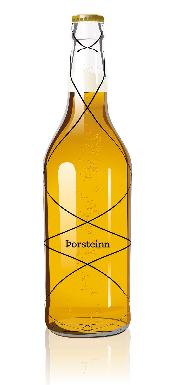 Porsteinn beer #packaging