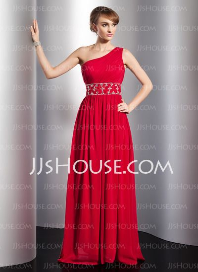 Evening Dresses - $142.99 - A-Line/Princess One-Shoulder Floor-Length Chiffon Evening Dresses With Ruffle Beading (017014774) http://jjshouse.com/A-Line-Princess-One-Shoulder-Floor-Length-Chiffon-Evening-Dresses-With-Ruffle-Beading-017014774-g14774