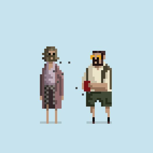 8-bit pixel gifs by dusan cezek animate famous movie moments + comics