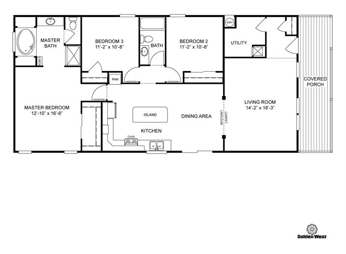 clayton homes home floor plan manufactured homes modular homes mobile homes - Clayton Homes Floor Plans 3 Bedrooms 28 Quot Width 44length