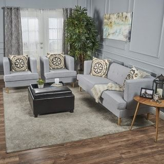 Shop for Milton Mid Century Modern 3-piece Fabric Sofa Set by Christopher Knight Home. Get free shipping at Overstock.com - Your Online Furniture Outlet Store! Get 5% in rewards with Club O! - 24003345