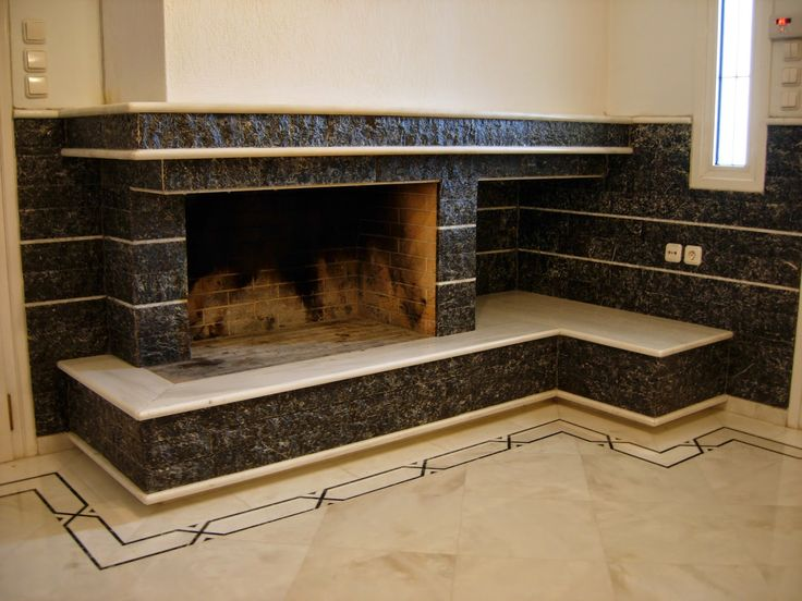 Greek Dionysos marble (white) & greek Livadia marble (black)