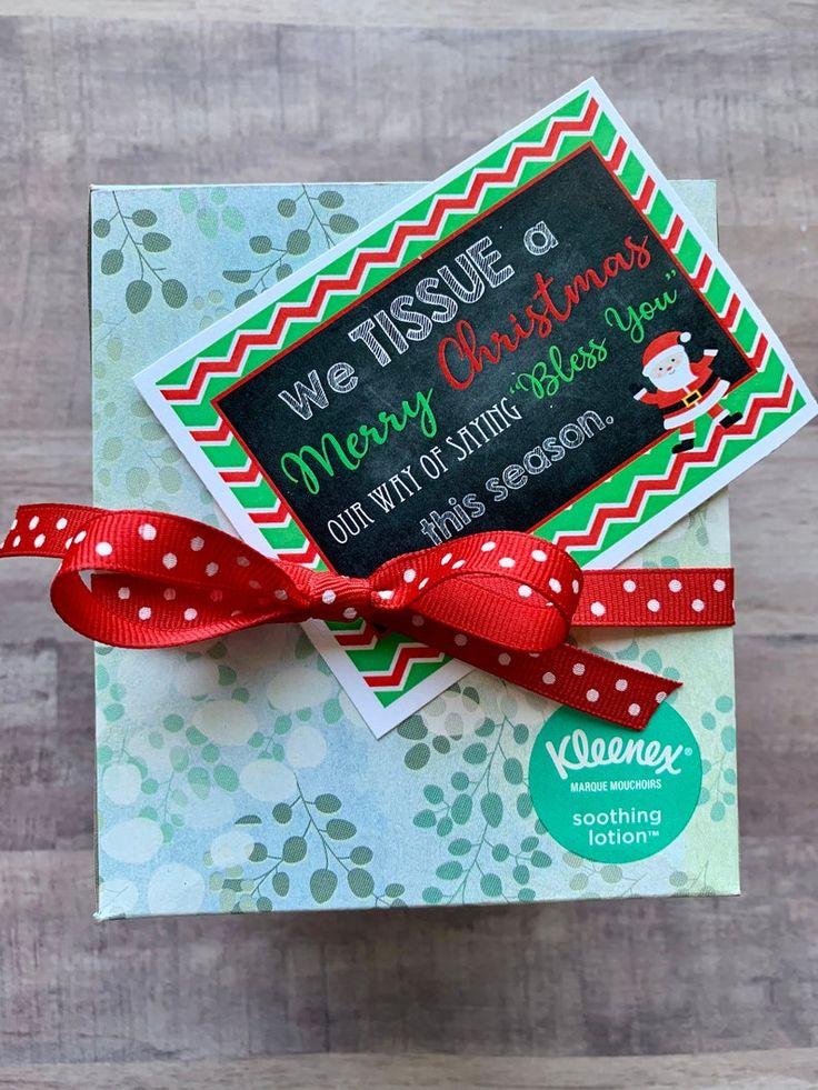 INSTANT DOWNLOAD Tissue Christmas Neighbor Gifts Kleenex